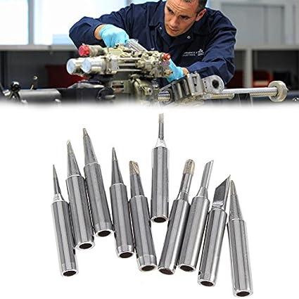 10 piezas de soldadura de hierro Tip900M-T. para soldador Hakko, herramienta de