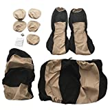 Baynne 9pcs Car Sponge Seat Cover Car Styling Accessory Universal for Five-Seat Cars(Color beige)