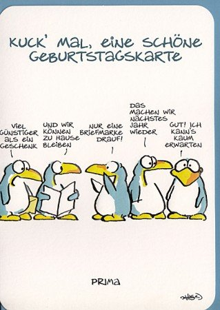 Pinguin geburtstagskarte