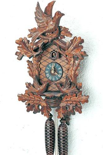 Alemán Reloj de cuco - mecanismo con cuerda para 8 días - tallado en madera -