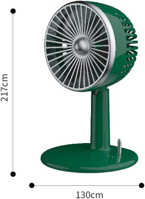 Sunny Lingt Retro Desktop Fan High Compatibility Best Gift 2000 MAh Battery Cooling Fast for Office Family Travel Small Personal USB Fan Portable Adjustable Mute 3 Speed Retro Desktop Fan