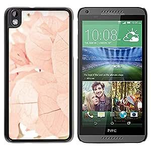 Paccase / SLIM PC / Aliminium Casa Carcasa Funda Case Cover para - Autumn Spring Flowers Leaves Pink - HTC DESIRE 816