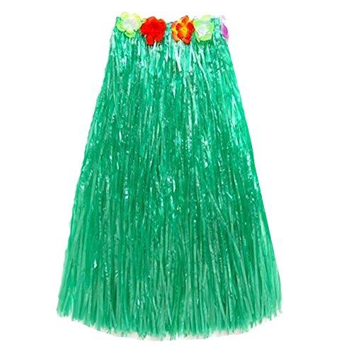 LEFV trade; Grass Skirt Hawaiian Dancer Hawaii Stage Beach Luau Hula Party Dress with Elastic Floral Waistband for -