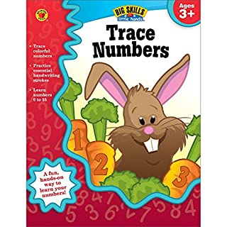 Carson Dellosa Trace Numbers Workbook for Preschool-Kindergarten—Number Tracing Practice Book, Ages 3-5, PreK-Kindergarten, Homeschool, Daycare (32 pgs) (Big Skills for Little Hands®)