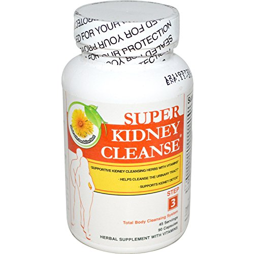 Health Plus Inc., Super Kidney Cleanse, Total Body Cleansing System, Step 3, 90 Capsules - (Total Body Cleansing Products)