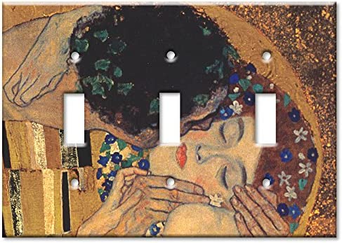 The Kiss II Art Plates D310 Klimt Double Gang Toggle Wall Plate