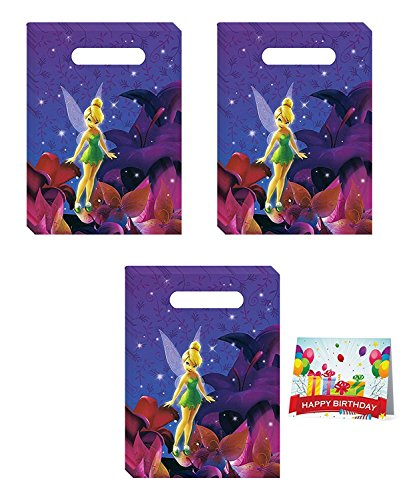 (Tinkerbell Birthday Party Favor Treat Bags Bundle Pack of)
