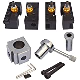 Dutiger 8609030 Mini Lathe Quick Change Tool Post & Holders, Quick Change Tool Post Multifid Tool Holder Kit Set for Table
