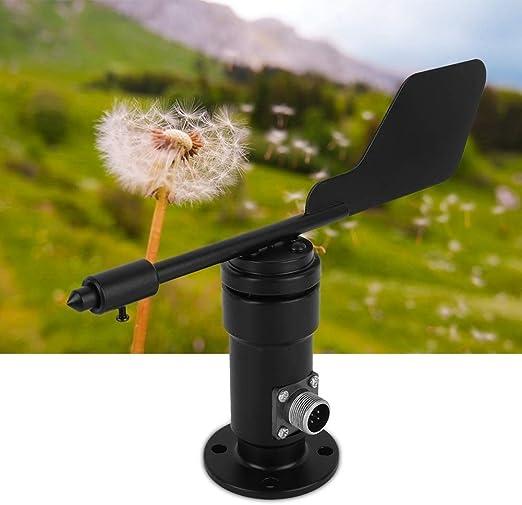 Eastbuy Sensor de Viento - Aleación de Aluminio Jardín Veleta Salida de señal Sensor de dirección del Viento (Negro): Amazon.es: Hogar