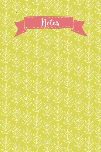 - Notes (6x9 Journal): Lined Writing Notebook, 120 Pages - Chartreuse and Coral Pink Leaves