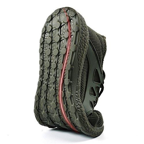 de de Zapatillas Malla Casuales Deportivas Zapatos Verde Transpirable Unisex Mujer Ligeras ZOCAVIA FqExRE