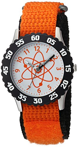 Discovery Watch (eWatchFactory Boy's 'Discovery Channel' Quartz Stainless Steel and Nylon Sport Watch, Color:Orange (Model: WDC000017))
