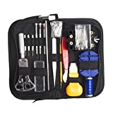 Watch Repair Kit , JELEGANT147 PCS Watch Repair Tool Kit Professional Spring Bar Tool Set Watch Band Link Pin Tool Set Opener Remover Protable Watch Fixing Kits with Carrying Case and a Free Hammer