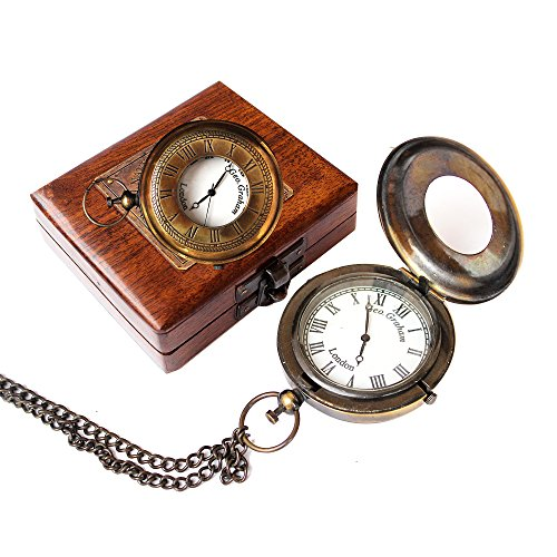 Sailor Pocket Watch Marine Antique Brass Lovers Gift Vintage Royal Navy Collection
