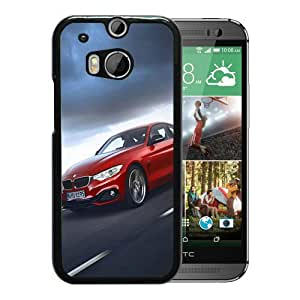 For HTC ONE M8,Red 2014 BMW 435i Black Protective Case For HTC ONE M8