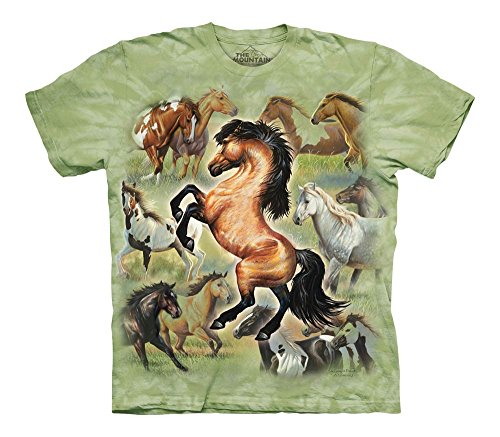 The Mountain Boys' Horse Collage T-Shirt,Green,Small