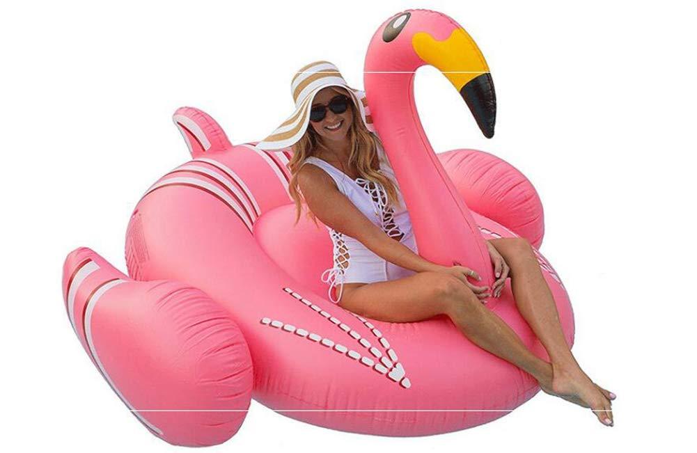 Sucastle Flotador Inflable para Piscina con Forma de Flamenco,para Adultos niños Playa Fiestas de Piscina Juegos Decoraciones de salón terraza ...