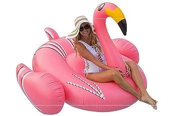Sucastle Flotador Inflable para Piscina con Forma de Flamenco,para Adultos niños Playa Fiestas de