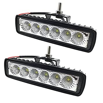 Amazon 18w led work light off road led lights bar fog driving bar 18w led work light off road led lights bar fog driving bar jeep lamp 2pcs mozeypictures