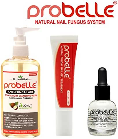 Antifungal Natural Treatment System Solution Kit (3 Piece) - Treats Toenail Fungus, Nail fungus, and Discolored Nails.