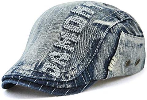 野球帽 キャスケット メンズ ハット 綿 調整可能 日よけ 防風 お洒落 ハンチング 57cm〜59cm LWQJP (Color : B, Size : One Size)