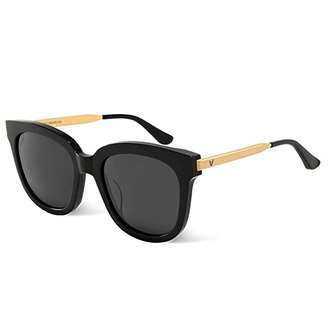 17f886034c7 Gentle Monster Sunglasses Absente 01 Gold Black Lens Gold and Black Frame  Genuine  Amazon.ca  Clothing   Accessories