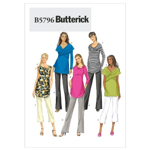 Butterick Patterns 5796 Misses Maternity Top and Pants with Variations Sizes 8-10-12-14-16