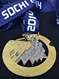 SOCHI Russia OLYMPIC GOLD 2014 Medal Silk Ribbon Large Sized Souvenir (Not Pin, pins or coin)