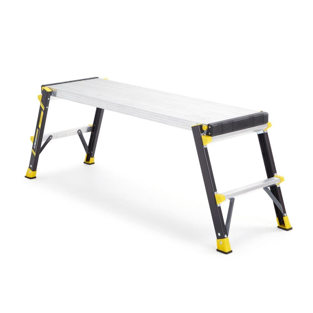 3.92 ft. x 1.17 ft. x 1.67 ft. Slim-Fold Fiberglass Work Platform with 375 lb. Load Capacity