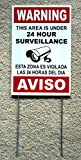 "1 Pc Consummate Popular Security Signs Anti-Thief Surveillance Anti-Burglar Size 8"" x 12"" Spanish English with Stake"