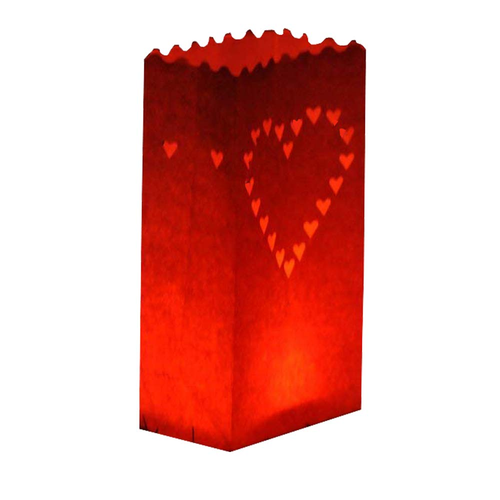 10-Pack Glo-Wax Luminary Bags (Style C) with FREE 10hr Tea lights S4U LUM-C