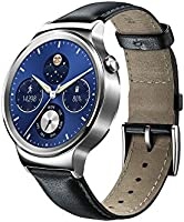 Huawei Stainless Steel Classic Smartwatch with Leather Strap