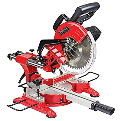 General International 15 Amp 10 in. Sliding Miter Saw with Laser Guidance System