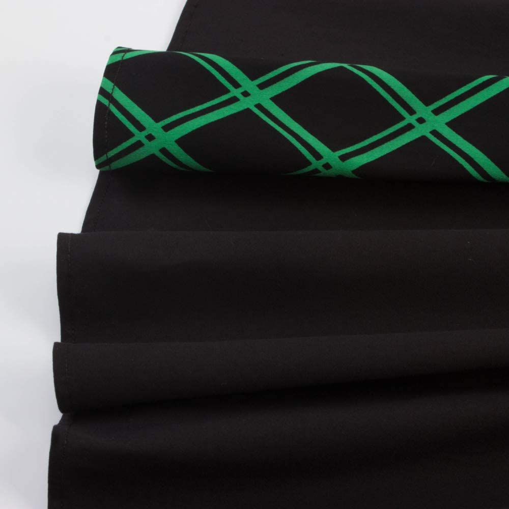 HZD Plaid Printing Women Vintage Dress Square Cut Collar Sleeveless Female Dresses Black