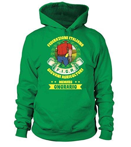 Italiana Cappuccio Uomo Teezily Giovani Con Agricoltori Donna Felpa Federazione Irlandese Verde 6qOqYwxgU5