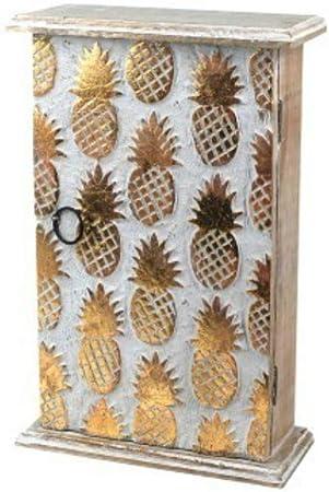 CAPRILO. Caja Guardallaves Decorativa de Madera Tallada Piñas ...