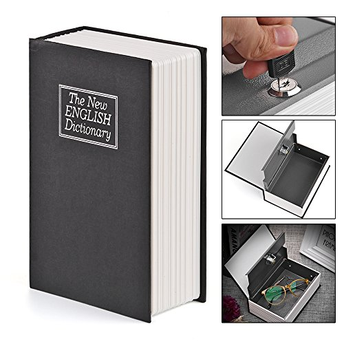Price comparison product image Book Safe Lock Box DDSKY English Dictionary Book Shaped Coins Saving Bank Safe Lock-up Storage Box with Keys Portable for Travel