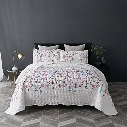 Bedsure Printed Quilt Coverlet Set Twin(68