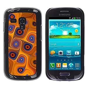Be Good Phone Accessory // Dura Cáscara cubierta Protectora Caso Carcasa Funda de Protección para Samsung Galaxy S3 MINI NOT REGULAR! I8190 I8190N // Orange Swirls