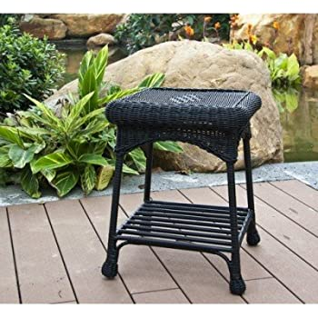 This Item Wicker Lane OTI001 D Outdoor Black Wicker Patio Furniture End  Table