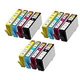 JCINK 12PK Remanufactured Ink Cartridge for HP 564XL HP564 XL Photosmart C510 B209 B210 C309 C310 C410 Series Printer