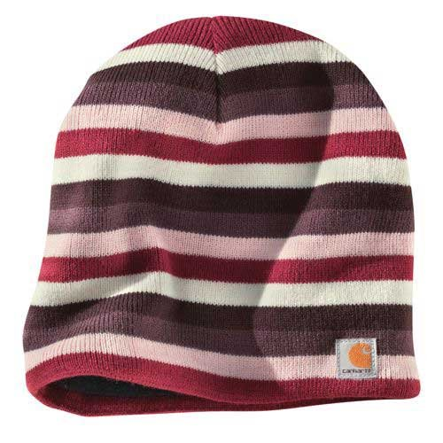 - Carhartt Women's Striped Knit Hat/Fleece Lined,Light Orchid  (Closeout),One Size