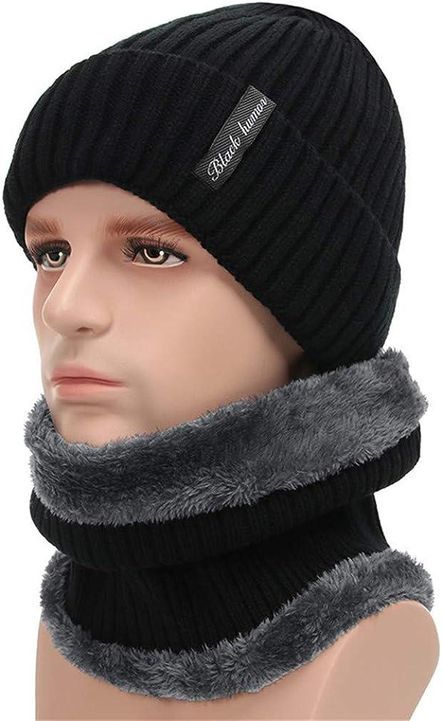 Winter Beanies Men Scarf Knitted Hat Caps Mask Gorras Baggy Warm Hats Women Fleece Lined Thick Skullies