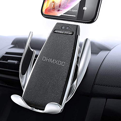 DHMXDC IR Intelligent Sensing Wireless Car Charger, Air Vent Automatic Clamping Wireless Charger Phone Holder, 10W Fast Charging Compatible for iPhone Xs Max/XR/X/8/8Plus Samsung S10/S9/S8/Note 8