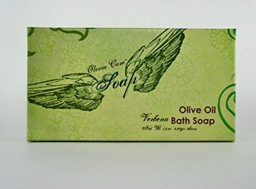 Olivia Care Natural Olive Oil Verbena Bath Soap, 15 Oz Total -3 Bars, ()