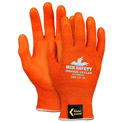 Memphis Glove Small 13 Gauge Kevlar Cut Resistant Gloves With Foam Nitrile Coated Palm And Fingertips - Pack of 12 by MEMPHIS GLOVES (Image #1)