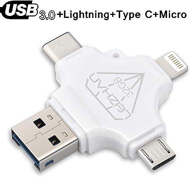 Amazon.com: LEIZHAN Micro Flash Drive 32GB 64GB Pen Drive ...