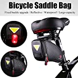 ASOSMOS Bike Saddle Bag Strap-on Bicycle Bike Bag Under Seat Packs Seat Bag