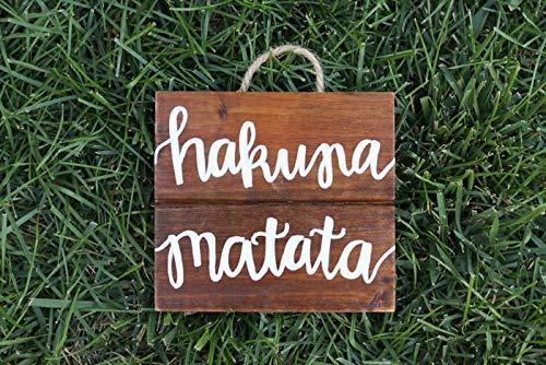 Eli231Abe Hakuna Matata - Cartel de Madera para decoración ...