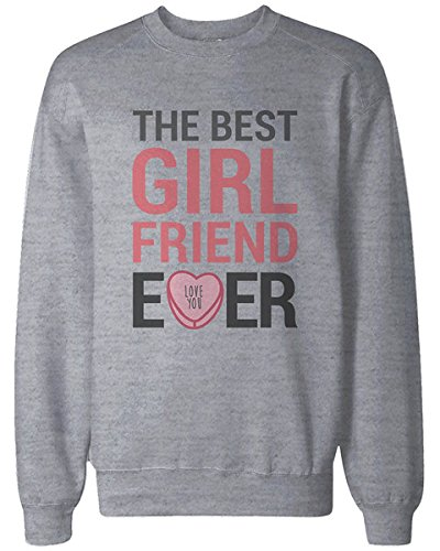 Amazon.com: 365 In Love Best Boyfriend and Girlfriend Ever Couple Sweatshirts Cute Valentines Day Gift: Clothing
